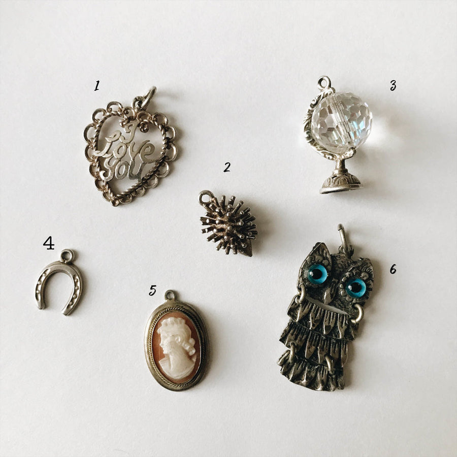 Vintage Sterling silver charm mix