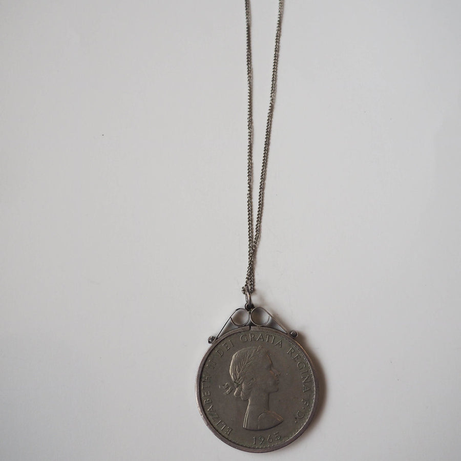 Large Silver handmade Coin necklace