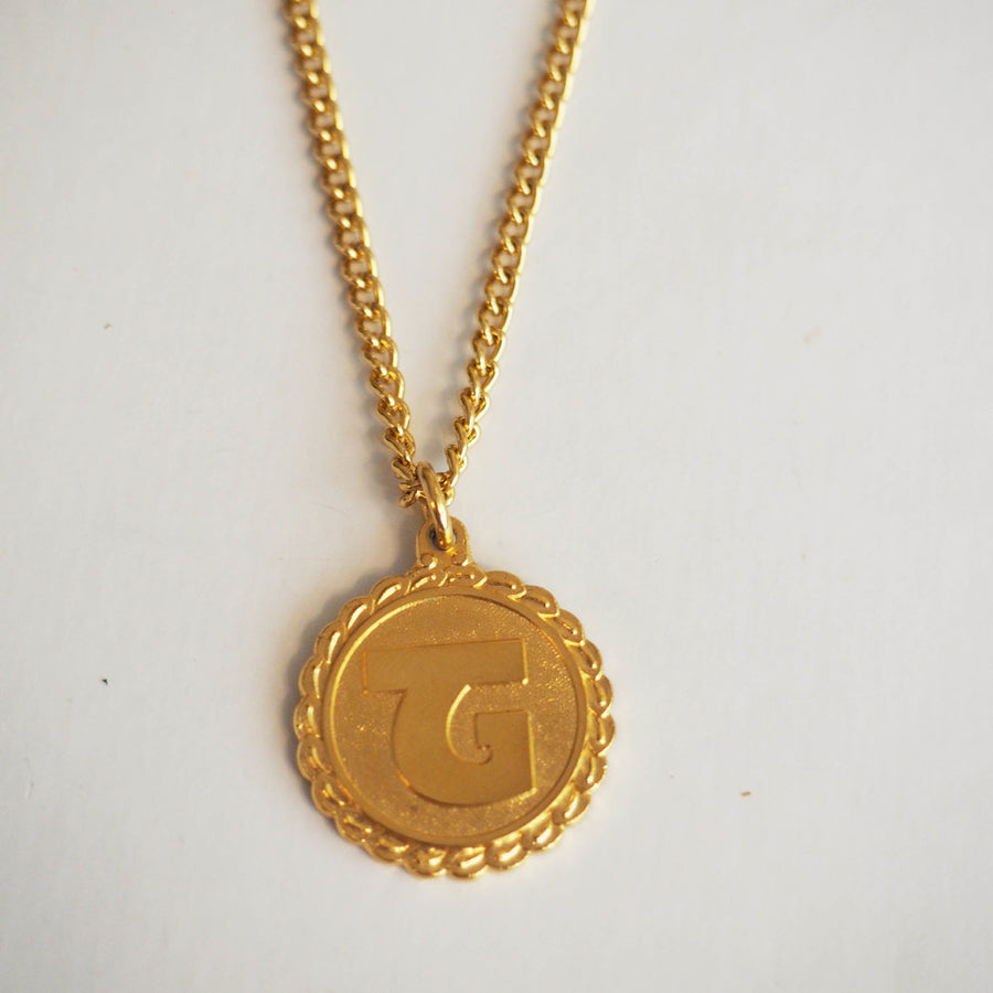 Fattorini gold plated initial necklace