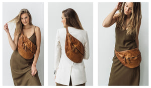 Italian leather sling bags. Leather Belt Bags. Luxury leather crossbody sling bags. City Sling by lusher.co