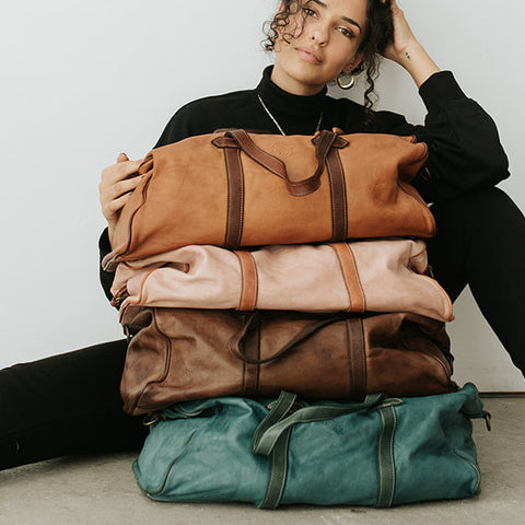 Sorrento Duffle bag in 4 two toned colors