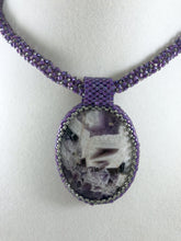 Load image into Gallery viewer, Purple Beaded Necklace