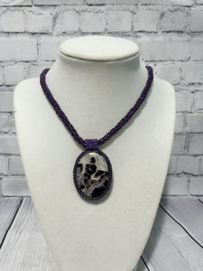 Banded Amethyst Pendant