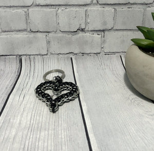 Chainmaille Heart Key Ring
