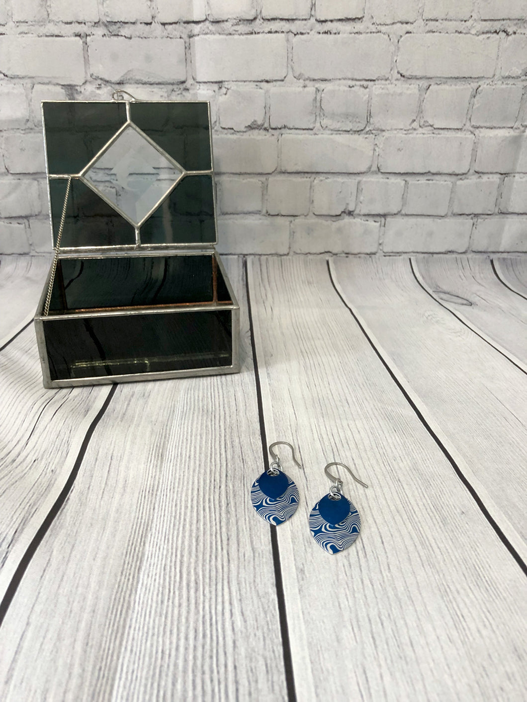 Damask Etched Earrings