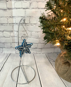Blue and White Star Ornament