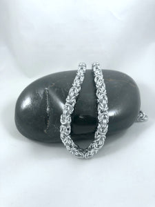 Byzantine Chainmaille Necklace, Aluminum Chain, Nickel Free