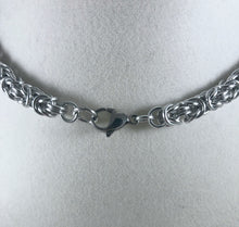 Load image into Gallery viewer, Byzantine Chainmaille Necklace, Aluminum Chain, Nickel Free