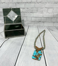 Load image into Gallery viewer, Copper and Turquoise Pendant Necklace