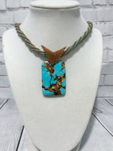 Load image into Gallery viewer, Turquoise and Copper Beaded Necklace