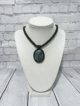 Load image into Gallery viewer, Grey Beaded Necklace