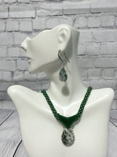 Load image into Gallery viewer, Jasper Necklace and Earring Set, Beaded Necklace, Nickel Free