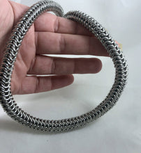 Load image into Gallery viewer, Roundmaille Chain Necklace, Aluminum Chainmaille, Nickel Free