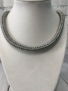 Roundmaille Chain Necklace, Aluminum Chainmaille, Nickel Free