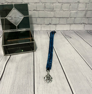 Aluminum Chainmaille Box Chain with Pendant