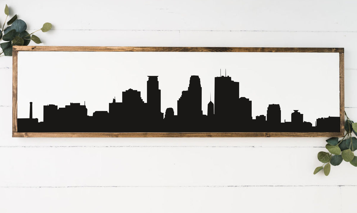 Skyline 8 x 24 Framed Sign (Workshop Only)