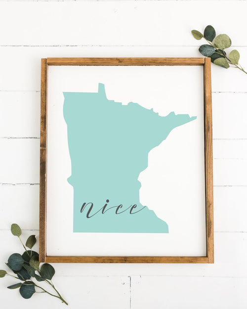 MN Nice 16 x 20 Framed Sign