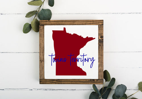 MN Twins Territory 8 x 8 Framed Sign