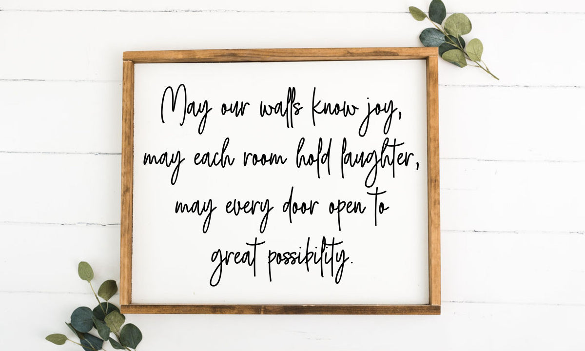May Our Walls Know Joy 16 x 20 Framed Sign