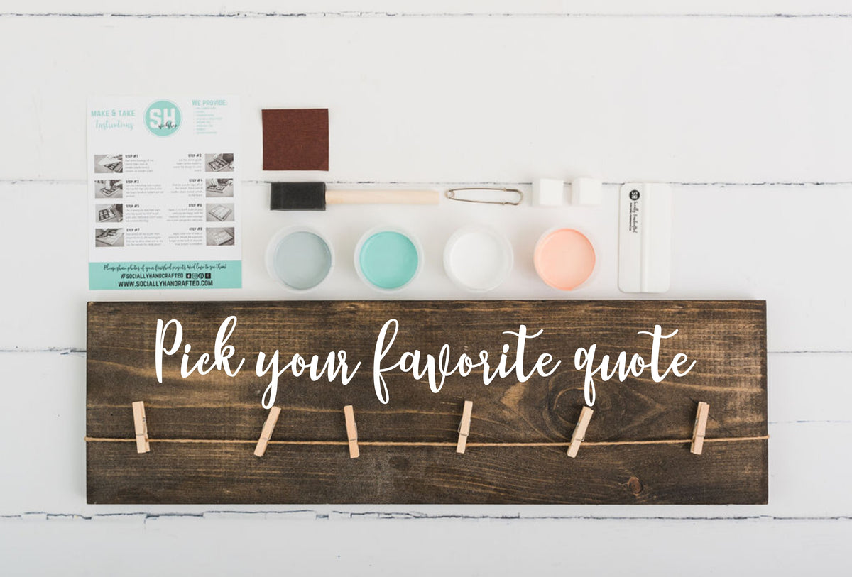 Photoboard- Pick Your Favorite Quote