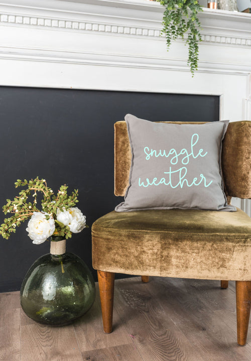 Snuggle Weather Pillow Cover