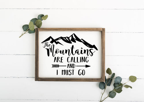 The Mountains are Calling and I Must Go - 12 x 16 (Workshop Project)