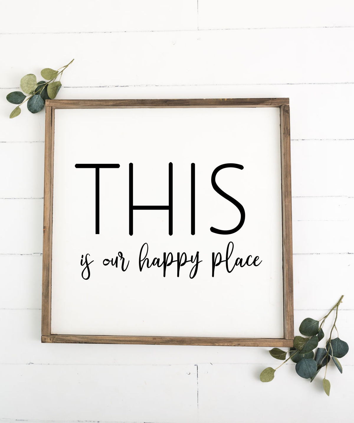 This Is Our Happy Place 24 x 24 Framed Sign