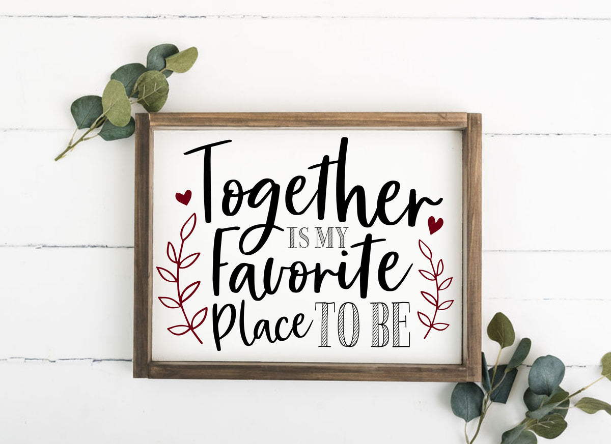 Favorite Place to Be 12 x 16 Framed Sign