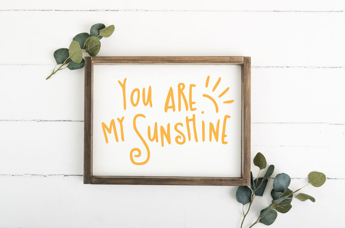 You Are My Sunshine 12 x 16 Framed Sign