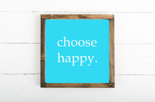 Choose Happy Framed Sign