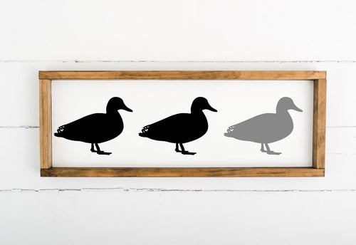 Duck Duck Gray Duck - 8 x 24 (Workshop Project)