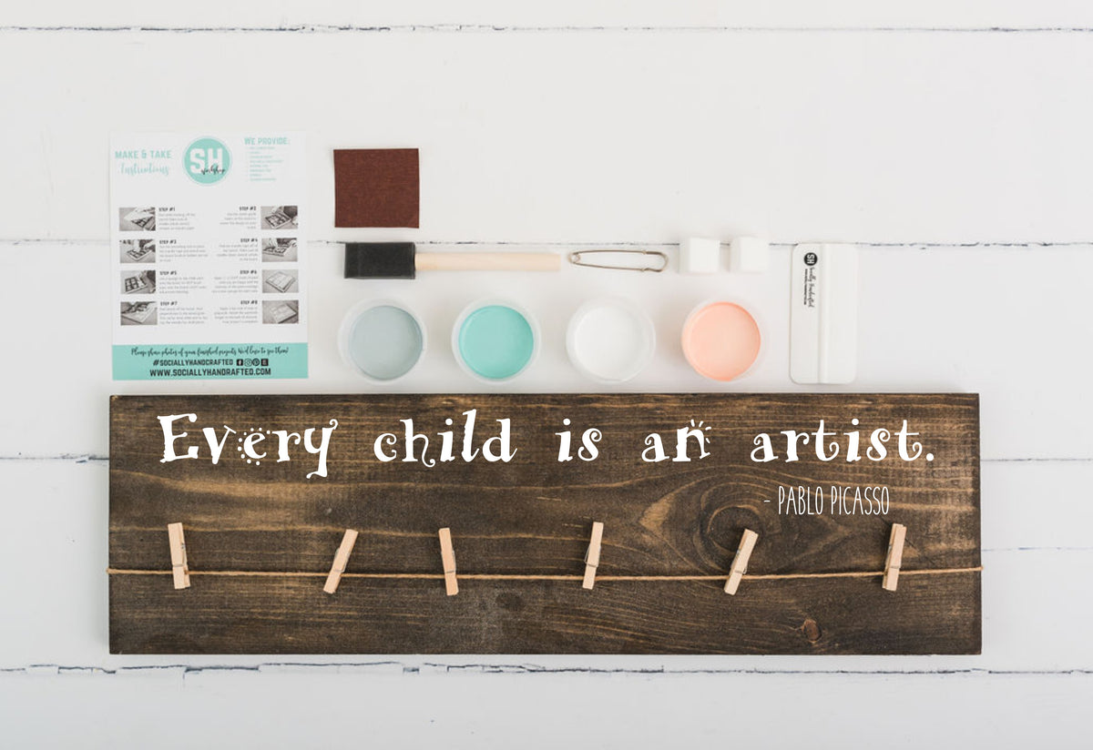Every Child Is An Artist - Art Display Board - 8x24 (Workshop Project)