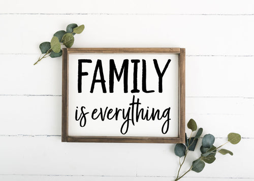 Family Is Everything - 12 x 16 (Workshop Project)