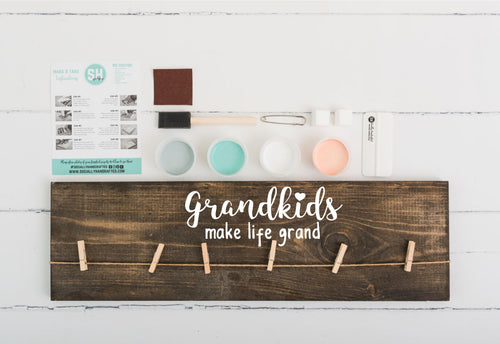 Grandkids Make Life Grand - Photo Board - 8x24 (Workshop Project)