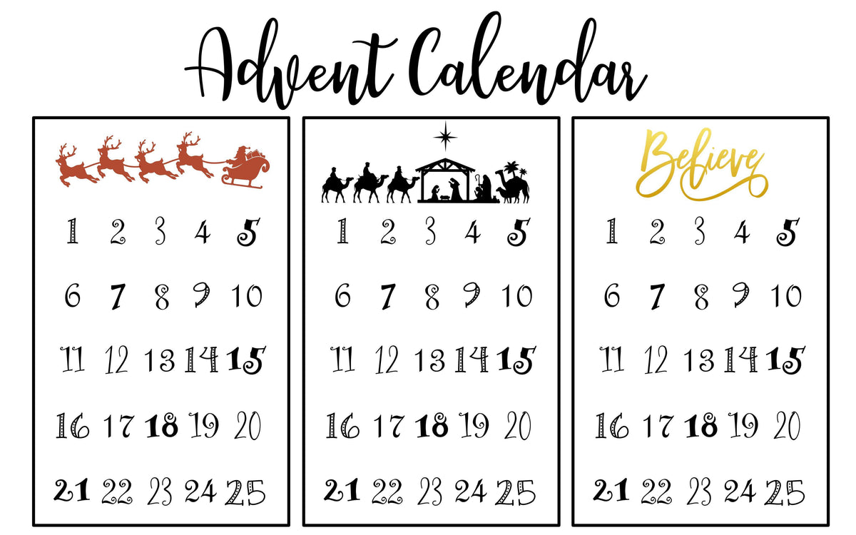 Advent Calendar Workshop