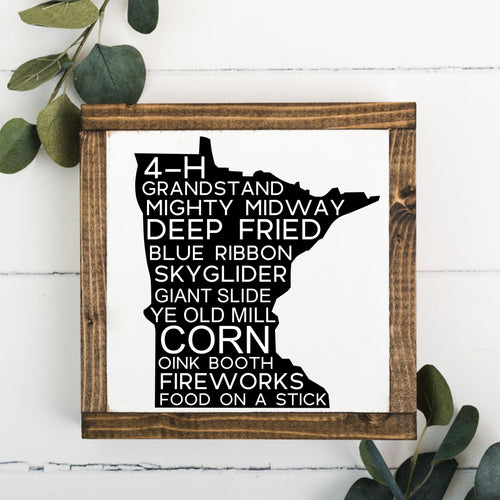 MN State Fair Framed Sign