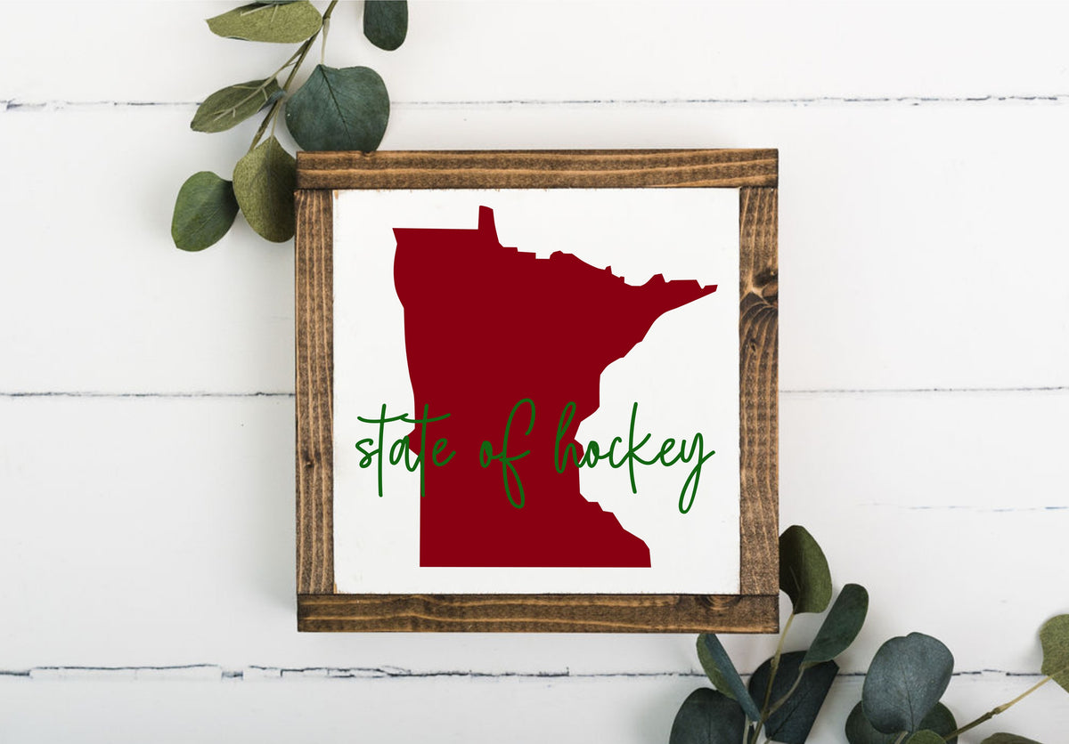 State Of Hockey 8 x 8 Framed Sign