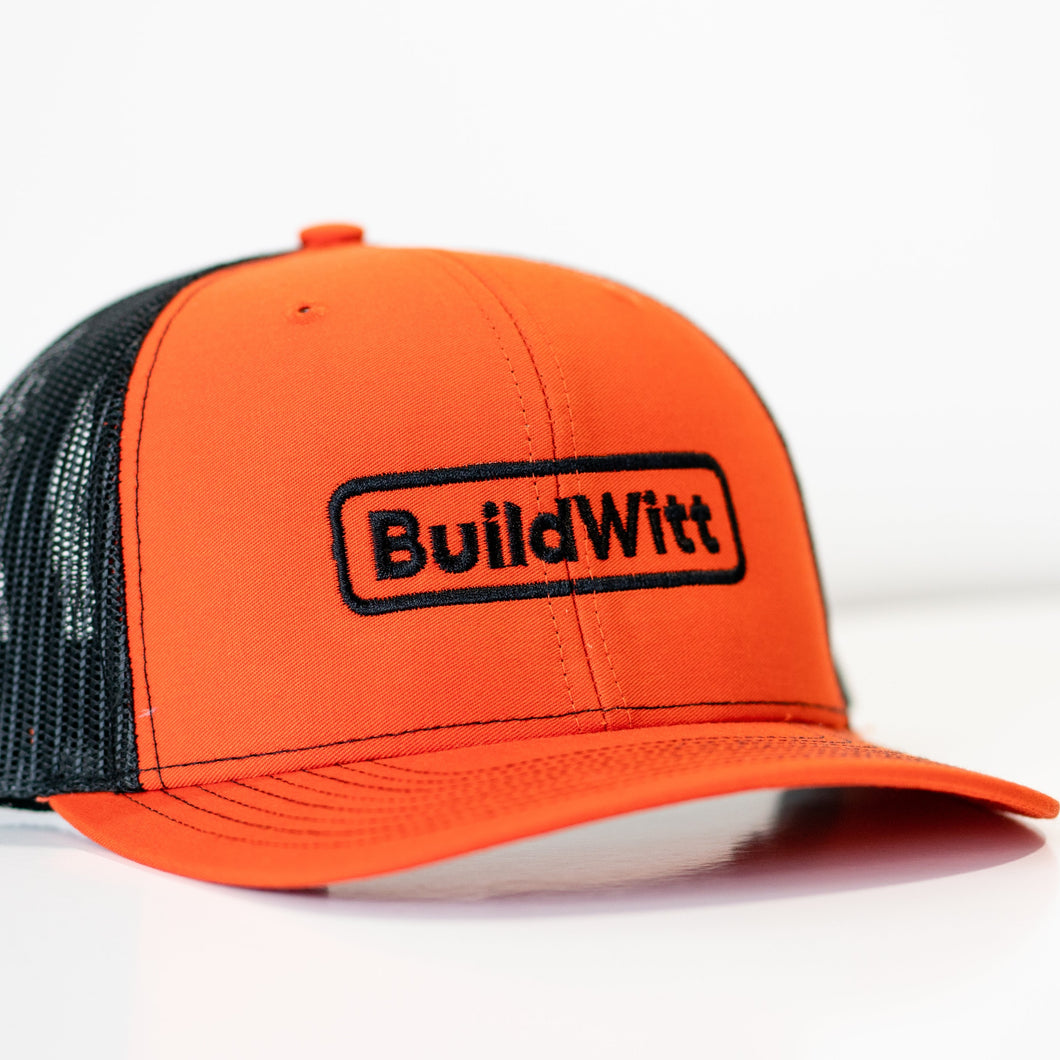BuildWitt Orange Hat
