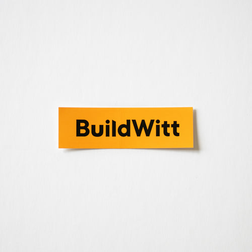 Orange BuildWitt Decal