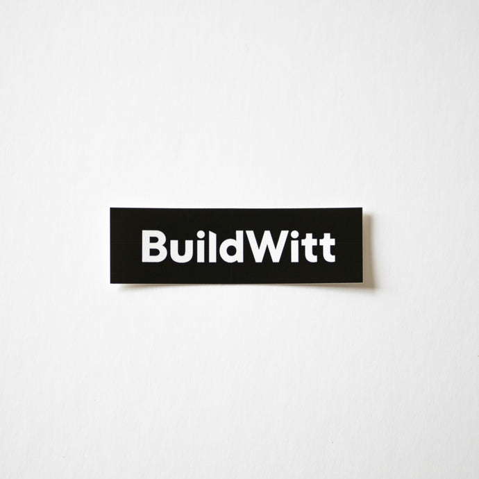 Black BuildWitt Decal