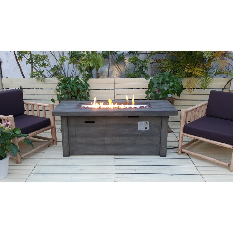 Ember Concrete Propane Fire Pit Table