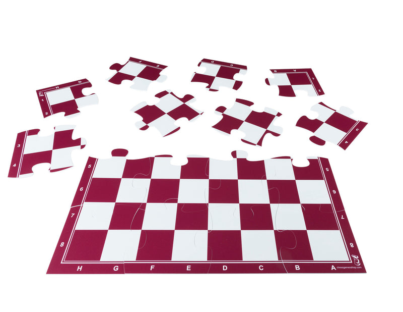"Red Jigsaw Puzzle Chess Set 19.68"" x 19.68"""