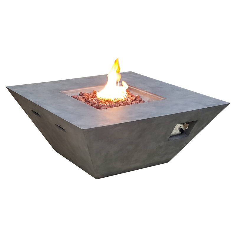 Luxor Concrete Propane Fire Pit Table - Gray