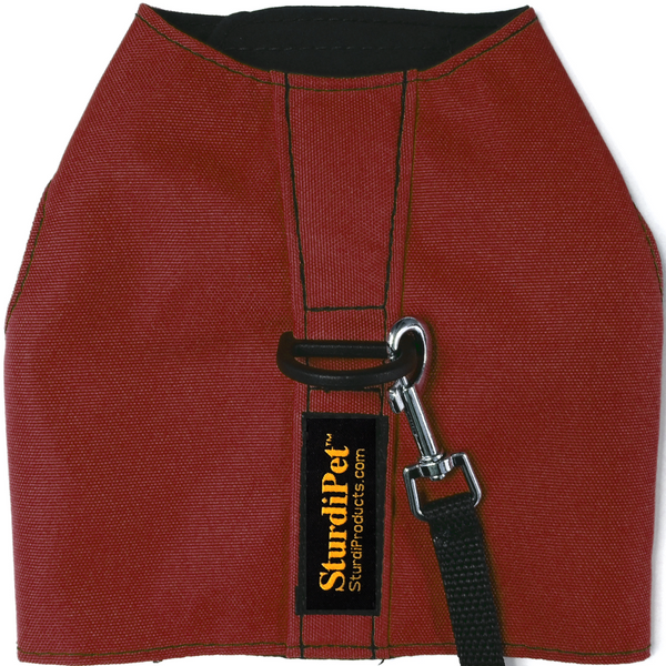 Small 600 denier Walking Vest in solid colors - Bordeaux - Sturdi Products - 8