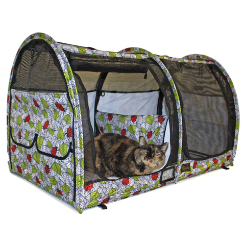 LE Pop-Up Kennel - Show Shelter Medium, Double, Mesh Doors