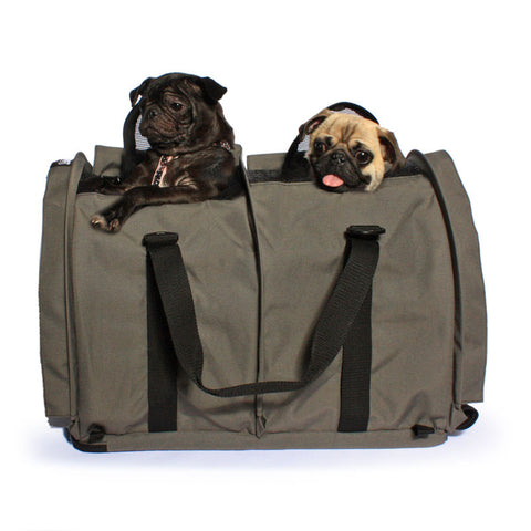 Extra Large Divided SturdiBag™ Pet Carrier - Smoke - Sturdi Products - 2