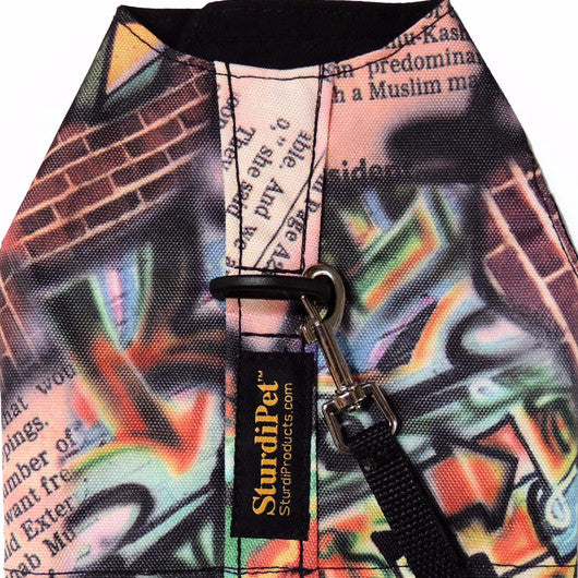 Small 600 denier Walking Vest in Limited Edition Print - Alley Cat - Disc. - Sturdi Products - 6