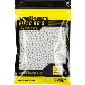 Valken Accelerate - 0.20G-1000 Count-White