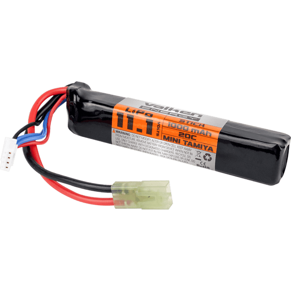 Valken Airsoft Battery - LiPo 11.1v 1000mAh 30c Stick Style