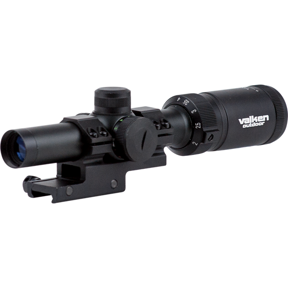 Valken Scope 1-4x20 w/Mount Mil-Dot Reticle